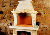 Outdoor garden fireplaces